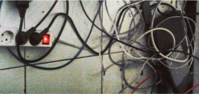Penataan kabel yang buruk