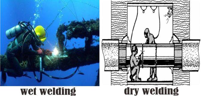 jenis pengelasan bawah air
